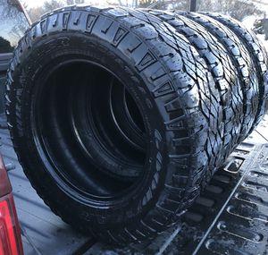 "4 18"" Wrangler duratrac tires 275/65/18 for Sale in Missoula, MT"