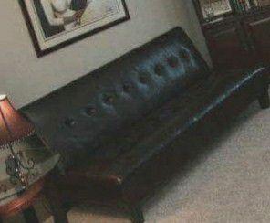 Dark brown Faux Leather Futon for Sale in Atlanta, GA
