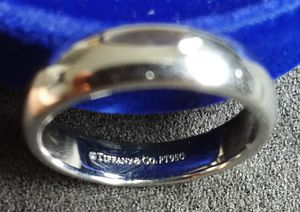 Tiffany platinum ring 4,5 mm, size 7.5 for Sale in San Diego, CA