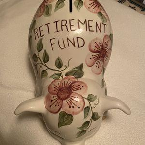 Ceramic Retirement Piggy Bank for Sale in Manassas, VA