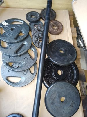 Standard plates and bar with spinlocks for Sale in Phoenix, AZ