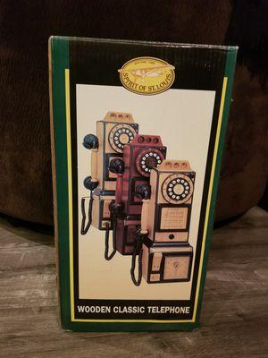 Classic wooden telephone for Sale in Santa Clarita, CA