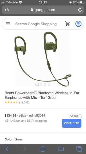 Powerbeats 3 pro turf green limited edition Apple new in box retail $149 for Sale in Chicago, IL