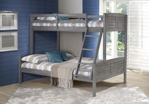 Donco Kids Twin Over Full Louver Bunk Bed in Antique Gray Finish for Sale in Orlando, FL