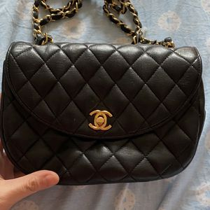 Chanel Small Black Lambskin Gold HW Bag for Sale in New York, NY