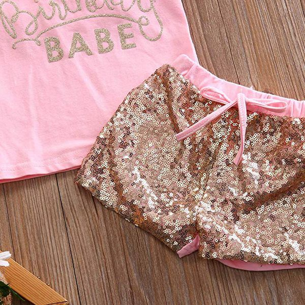 Baby Girl Birthday Outfit Sequin Birthday Girl Birthday Babe