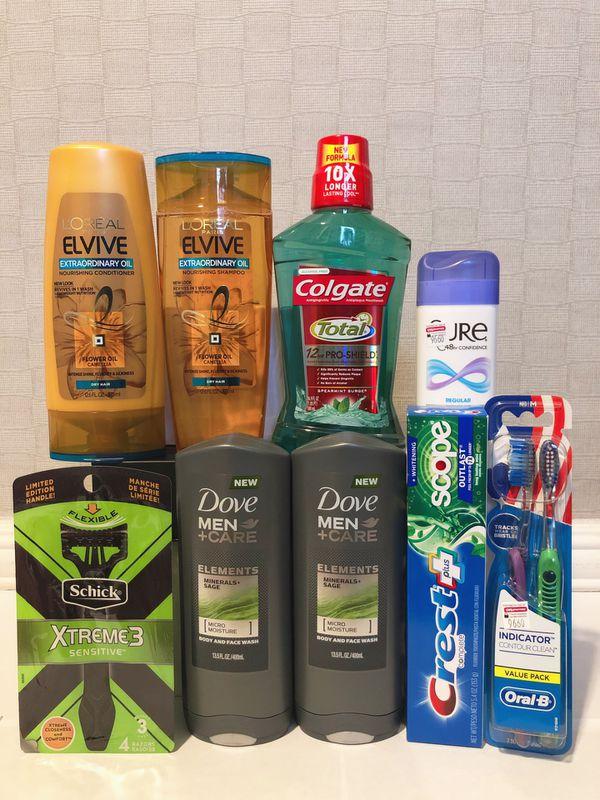 Men's Hygiene Personal Care & Household Bundle (Dove, Loreal, Schick, etc)