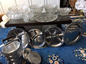 Crystal glassware and stainless steel food containers for Sale in Great Falls, VA