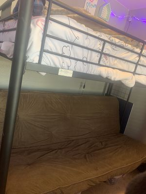 Bunk bed with futon for Sale in Tacoma, WA