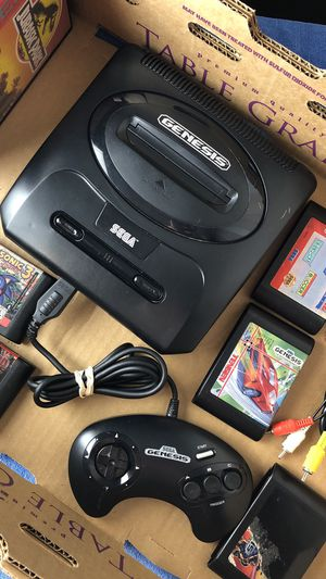 Sega Genesis Model 2 with 10 Games + All Hookups. Retro Video Games. Lot. for Sale in Margate, FL