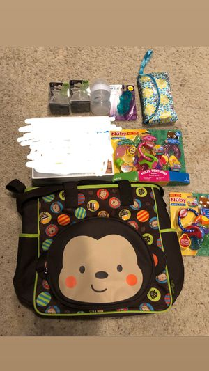 Baby stuff with diaper bag and stroller toys for Sale in Denver, CO
