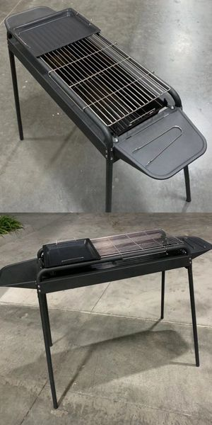 New 45x22x32 inches tall outdoor camping beach park charcoal BBQ portable grill stove adjustable height for Sale in Whittier, CA