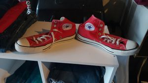 Red converse tennis shoes for Sale in San Jose, CA
