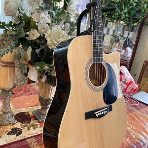 natural fever electric acoustic guitar with metal strings for Sale in South Gate, CA