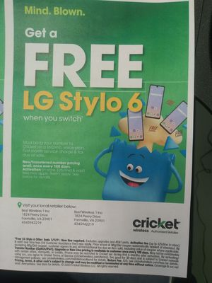 Cricket Wireless Farmville VA FREE PHONES for Sale in Farmville, VA