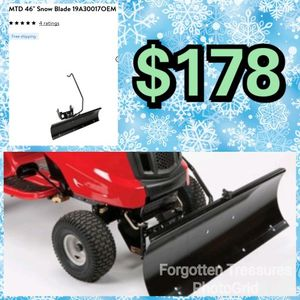 "NEW MTD 46"" Snow Blade Plow Attachment: njft seasonal tools for Sale in Burlington, NJ"