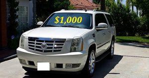 $1.OOO I'm selling urgently 2OO8 Cadillac Escalade SUV V8. for Sale in Arlington, VA