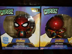 LIMITED EDITION FUNKO DORBZ MARVEL AVENGERS INFINITY WAR IRON SPIDER ACTION FIGURE for Sale in Phoenix, AZ