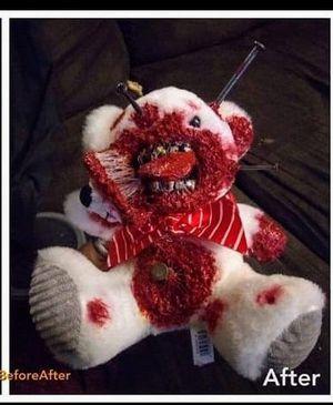 Teddy bear custom horror halloween for Sale in Houston, TX