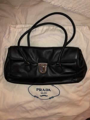 Prada vintage black leather shoulder bag for Sale in Costa Mesa, CA