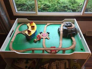 Train table with 2 drawers. for Sale in Appleton, WI