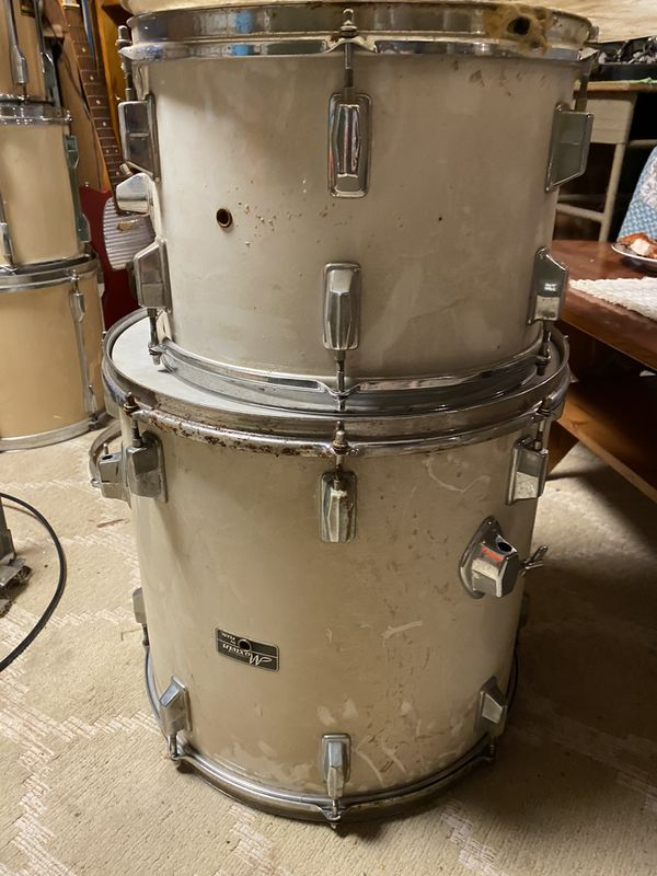 Pearl Export series total of 3 sets and box of music hardware