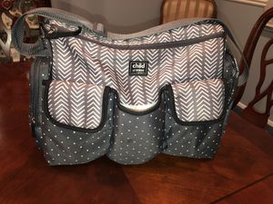 Carters Child of Mine Large Diaper Bag Like New for Sale in San Jacinto, CA