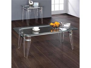 CLEAR COFFEE TABLE AND END TABLE for Sale in Hialeah, FL