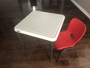 Lifetime Kids Table and Chair for Sale in Sykesville, MD
