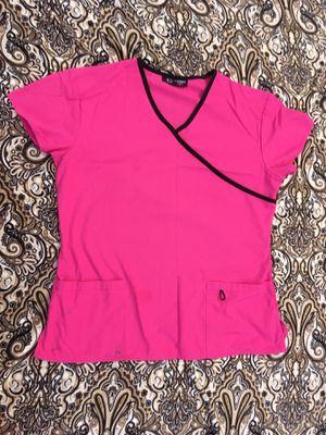 Hot pink scrub top medium for Sale in Orange, CA