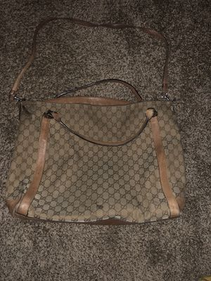 Authentic designer Gucci handbag tote large work bag laptop bag purse for Sale in Albuquerque, NM