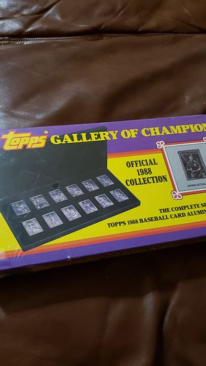 Collectible Topps Gallery of Champions Aluminum Card Set, New Sealed for Sale in Bakersfield, CA