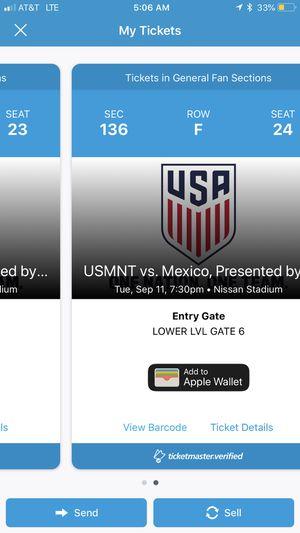 USA vs Mexico for Sale in Nashville, TN