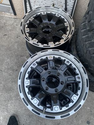 17 inch American Outlaw wheels - 6 lug GM or Toyota for Sale in Los Angeles, CA