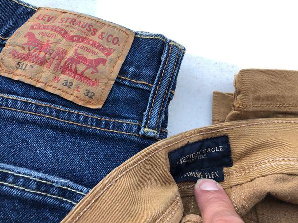 Men's Pants 32x32 shorts 32w 3 pieces Levi's, J Crew, Nautical