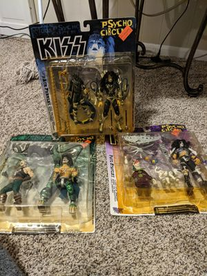 Lot of 3 awesome kiss action figures new in package make offer for Sale in Seven Hills, OH