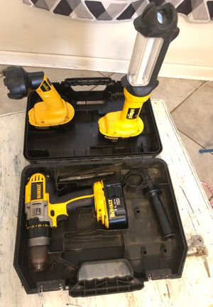 Dewalt drill and lights for Sale in Clinton, MS