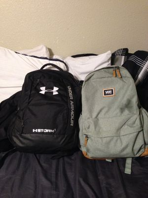 Under armor and vans backpack for Sale in Groves, TX