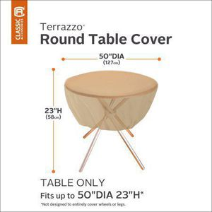 Classic Accessories Terrazzo Round Patio Table Cover - All Weather Protection Outdoor Furniture Cove for Sale in Mesa, AZ