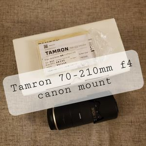 Tamron 70-210mm f4 DI VC USD Lens for Canon EOS EX Condition for Sale in Los Angeles, CA