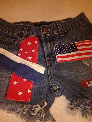 Decorated fringe cut off shorts. for Sale in Indianapolis, IN