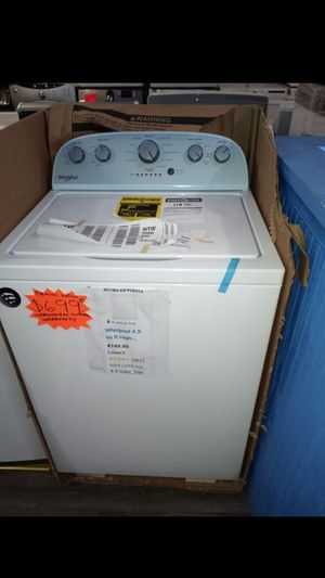 New whirlpool TOP load washer with manufacturing warranty for Sale in Baltimore, MD