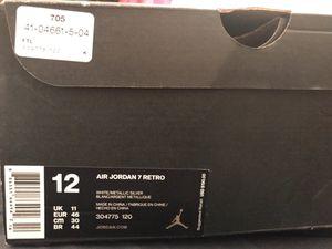 Jordan 7s all white sz 12 for Sale in Detroit, MI