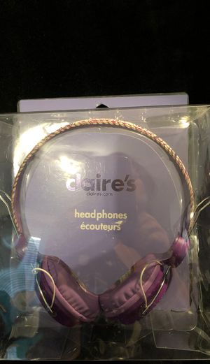 Headphones 🎧 purple floral GREAT for ONLINE learning!! for Sale in Mesa, AZ