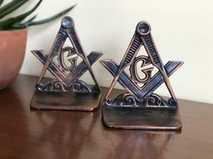 Vintage Masonic bookends for Sale in Williamsburg, VA