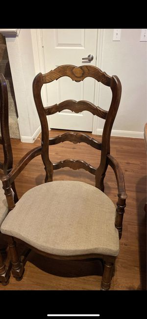 Antique hardwood table 6 chairs for Sale in Missouri City, TX