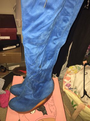 Jeffrey Campbell thigh high wedge boots for Sale in FAIRMOUNT HGT, MD