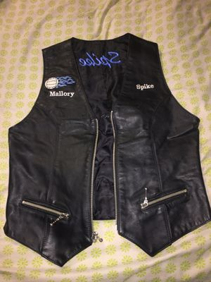 Women's Leather Zip Up Motorcycle Vest Black Approx Small for Sale in Fort Worth, TX