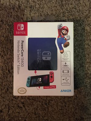 Nintendo switch, PowerCore 13400 portable charger for Sale in Denver, CO