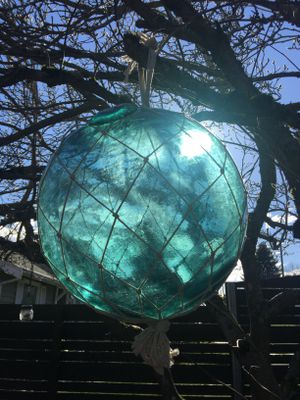 Antique Japanese Large Glass Fishing Float Buoy Line/Roped for Sale in Seattle, WA